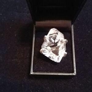 """Deb Guyot Herkimer """"diamond"""" quartz Mango ring"""